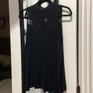 Deletta black tunic